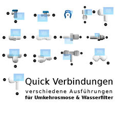 GPC Quick Verbindungen für Umkehrosmose & Wasserfilter versch. Größen