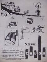 PUBLICITÉ DE PRESSE 1961 CALOR RASOIR GAUFRIER MIXA-BATTEUR CASQUE - ADVERTISING