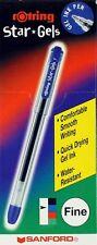 10 x Sanford Rotring STAR GELS Gel Stick Ballpoint Pens BLUE Fine