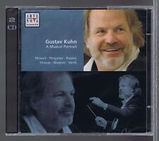 GUSTAV KUHN 2 CDs NEW A MUSICAL PORTRAIT MOZART PERGOLESI ROSSINI