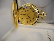 Pocket Watch New! As-Is Reduced Colibri Goldtone Swiss Movtement Gold Face
