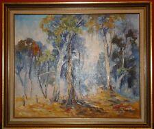 Original Painting Signed By Artist, Ula Jensen Bush Scene Australiana