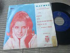 """RACHEL CON LOS MAGNIFICOS Y MARBEL -KARINA 7"""" SINGLE EP PROMOCIONAL BCD 71 YE-YE"""