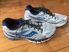 SAUCONY GUIDE 8 Men White Blue Silver Running Sneaker Shoe 10 M