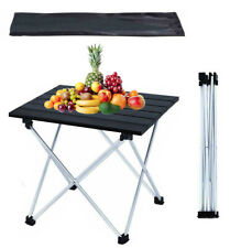 New listing Folding Outdoor Camping Beach Table Portable Aluminum Picnic Table w/Carry Bag