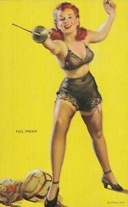 ELVGREN - 1940s art illust PIN-UP/CHEESECAKE mutoscope ARCADE/EXHIBIT card