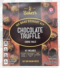 Bakers Chocolate Truffle Cookie Balls No Bake Dessert Kit 8.6 oz