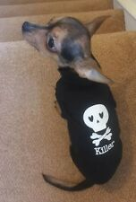 Chihuahua XS Dog Clothes Black & White Skull & Crossbones T Shirt, Pet Clothing