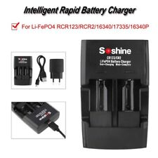 RCR123/CR2 Charger with LED Indicator Light For 16340/17335 Battery Rechargeable