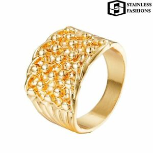 Hi-Quality Gold Tone Stainless Steel Metal 316L Keeper Ring Available All Sizes