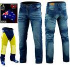 Australian Bikers Gear Men Motorbike Motorcycle Trousers Jeans line with KEVLAR®