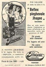 W9946 Reflex pieghevole JHAGEE - Pubblicità del 1931 - Old advertising