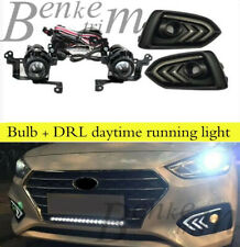 For Hyundai Accent 18-20 21 DRL Fog lights With turn signal Harness switch kit