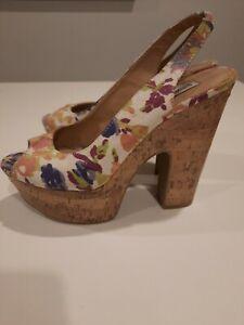 Se asemeja computadora Ingenioso  Steve Madden Wedge Floral Heels for Women for sale   eBay