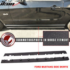 Fits 10-14 Mustang V6 V8 GT Bottom Line Side Skirts Splitter PU