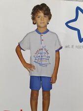 PRIMERO PIGIAMA CORTO COTONE JERSEY TG 9 ANNI BAMBINO GRIGIO NAUTICA ART. E10273