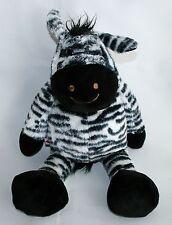 "Black white FLOPPY BEAN BAG ZEBRA Soft Jungle PLUSH STUFFED 19""   Lovey TOY"