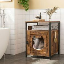 HOOBRO Katzenklo Schrank Katzentoilette Katzenhaus mit 6 abnehmbaren Haken