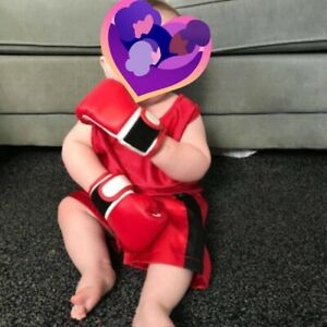 Wearable Baby Boxing Gloves Full Red