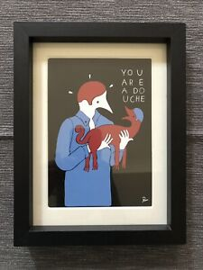 "Parra ""You Are A Douche "" Framed Print - MIMA Zoo Exhibition Only"