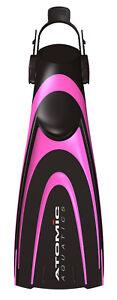 Atomic Aquatics Blade Fins Fin Open Heel for Scuba, Diving, Snorkeling Pink