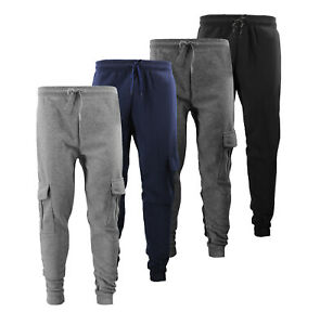 Men's Drawstring Sweatpants Jogger Fitness Gym Workout Slim Fit Cargo Pants