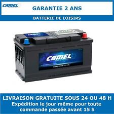 Batterie de Loisirs à Double Usage Camel XV110 110Ah 870CCA Garantie 2 Ans