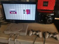 Sony PlayStation 1 PS1 Console Bundle | AV TV Lead Tested see photos