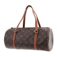 Louis Vuitton Papillon 30 Hand Bag Monogram Canvas M51385 Authentic #XX367 S