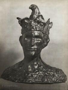 1940s Brassai Original Photo Art Of Picasso 1905 Bronze Sculpture Jester Joker