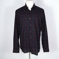 Culturata Italy Tailored Fit Plaid Button Front Shirt Large