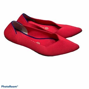 Rothys Size 6.5 The Point Hot Pink Pointed Flats *Retired*