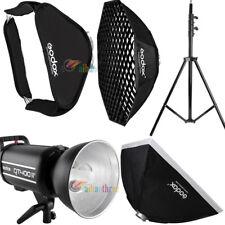 Godox QT400IIM 400W 2.4G HSS 1/8000s Studio Strobe Flash + Softbox + Light Stand