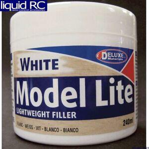 Deluxe Materials DLMBD5 Model Lite Balsa Filler White: 240cc