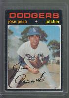 1971 TOPPS #693 JOSE PENA LOS ANGELES DODGERS BK$12.00 A