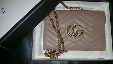Gucci Marmont matelasse nude mini bag NEW* 1000% AUTHENTIC OR MONEY BACK*
