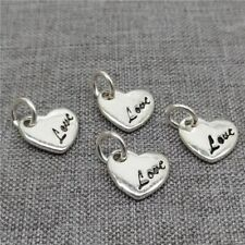 5pcs of 925 Sterling Silver Love Heart Charms for Bracelet Necklace