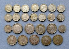 Lot of 25 Canadian Coins 80% Silver ~ 9 Quarters 16 Dimes ~ Circulated ~ $3.85