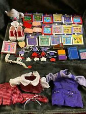 Vintage Amazing Ally Interactive Doll Accessories Lot Clips/Books/Tea Party Set
