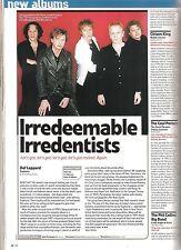 DEF LEPPARD Euphoria album review 1999 UK ARTICLE / clipping