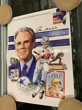ROGER STAUBACH #12 DALLAS COWBOYS SIGNED 12X16 POSTER  PB