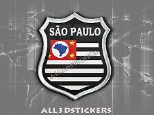 3D Emblem Sticker Resin Domed Flag Estado de São Paulo - Adhesive Decal Vinyl