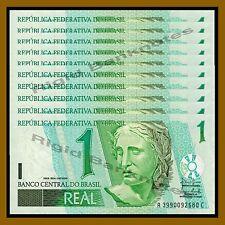 Brazil 1 Real x 10 Pcs, 2003 P-251b Unc