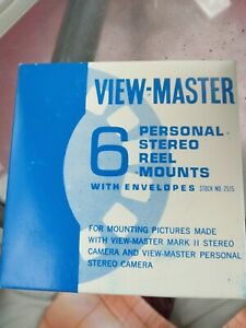 6 View-Master Empty Personal Stereo Reel Mounts & Envelopes, New-Old-Stock
