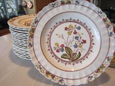 """4 SPODE COWSLIP DINNER PLATES 10½"""" Earthenware S713 Copeland England-MORE AVAIL!"""