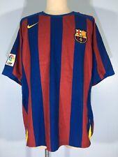 VTG BARCELONA FC SPAIN BARCAR 2004 2005 NIKE FOOTBALL SHIRT SOCCER JERSEY L