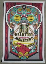 BIG HEAD TODD & THE MONSTERS 2018 Red Rocks Concert Poster  Pinball Screen Print