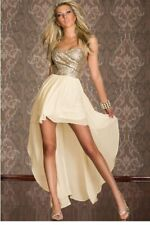 Shimmery Gold & Cream Dress (Size L)
