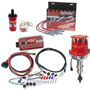MSD 8579 Ford 302 Pro-Billet Distributor Ignition Kit, 6425/31189