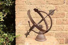 Decorative Iron Sphere Armillary Sundial Garden Clock Ornament. SMALL